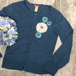 DOWNEAST Button Down Blue Cardigan